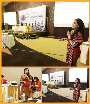 "3rd Semarang Clinical Nutrition Update (SCNU 3) 2018, Comprehensive Clinical Nutrition Update in Cancer, ""The Importance of Gut Health in Cancer Prevention and Therapy"", Semarang, 28-29 April 2018."